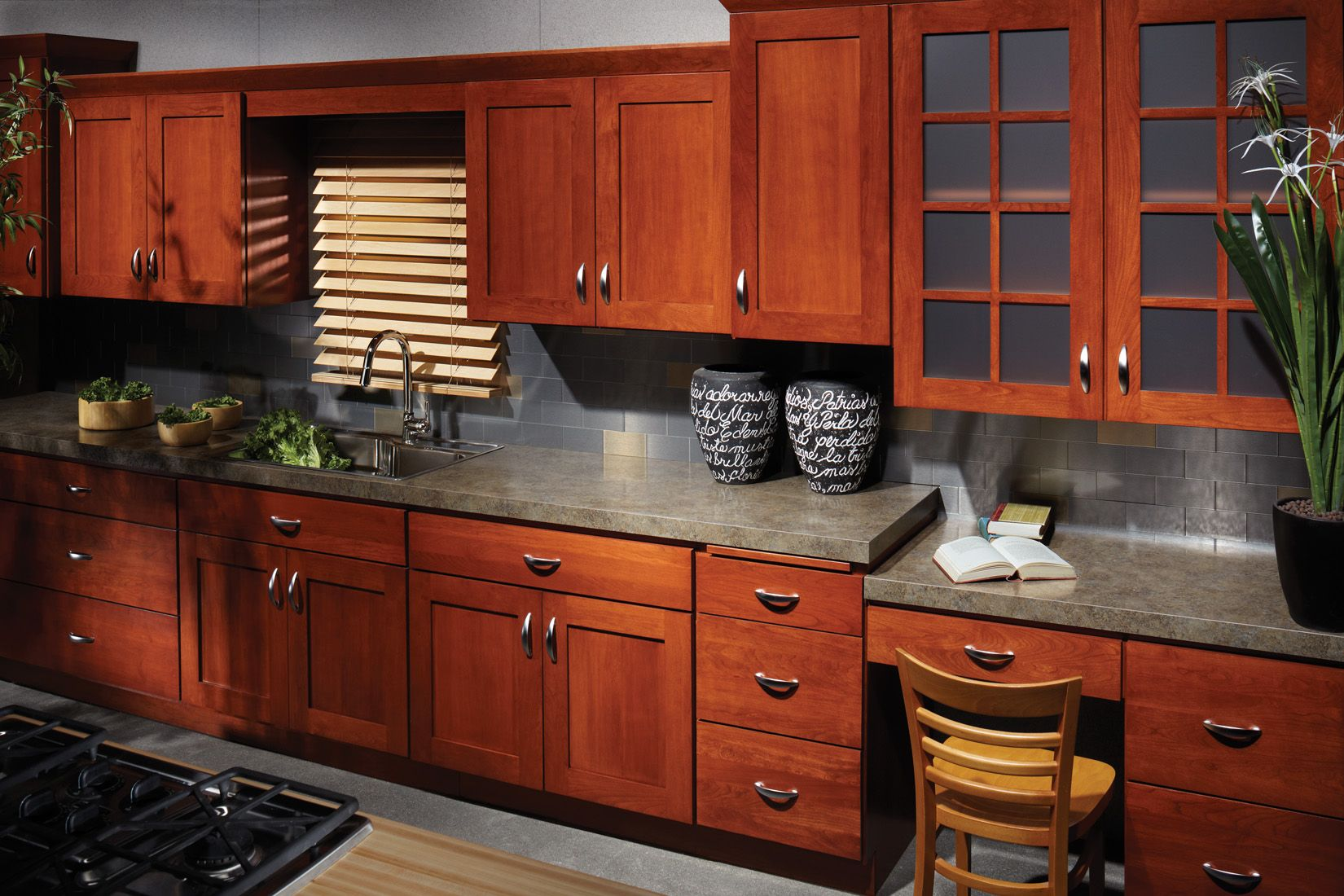 quincy-3 - cherry - chestnut | bertch kitchen cabinetry by all-star
