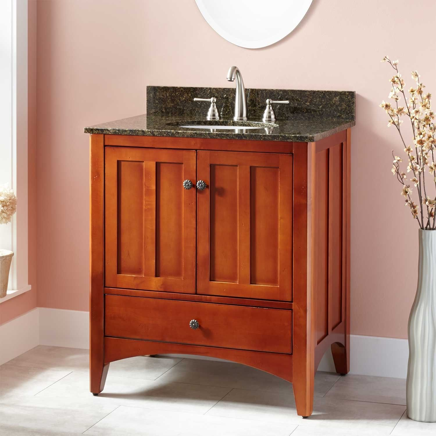 "30"" Ibarra Vanity For Undermount Sink  Cherry  Vanities Sinks Impressive Cherry Bathroom Vanity Inspiration Design"