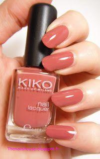 Kiko 366 rose terracotta nail polish swatch for Kiko 365 tattoo rose