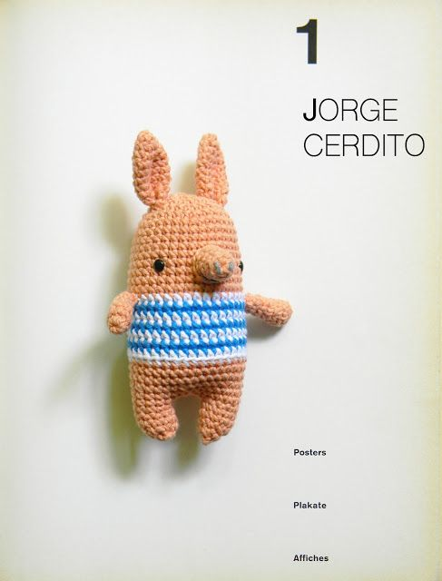 pica-pau: jorge cerdito, patrón amigurumi GRATIS / Pig, FREE pattern ...