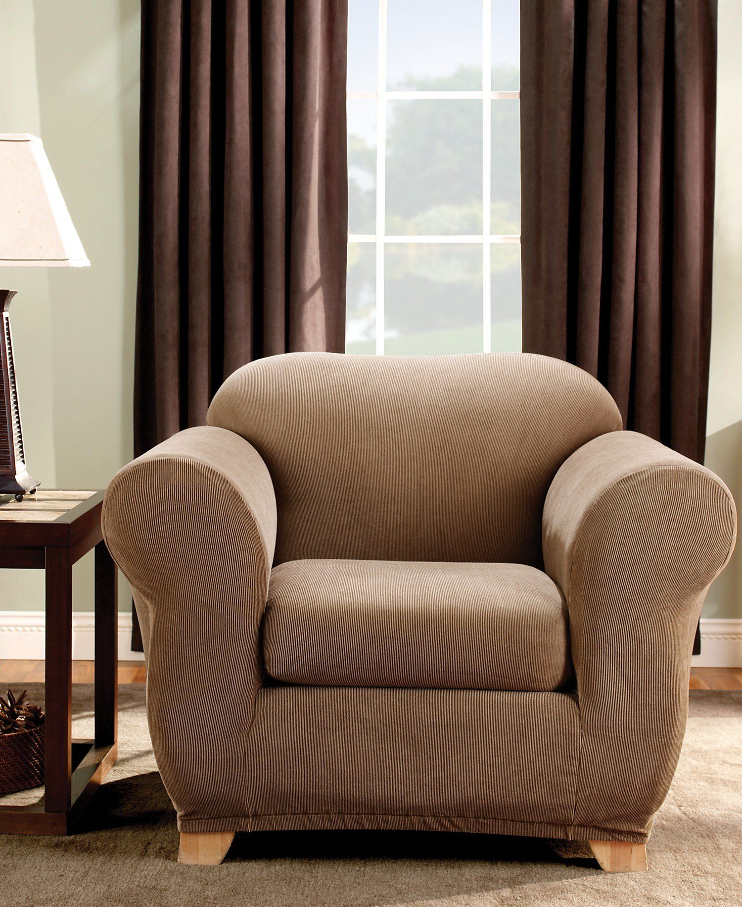 93.01 Sure Fit Stretch Stripe 2Piece Chair