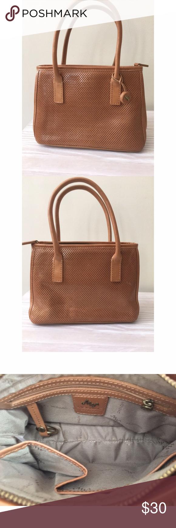 Monsac Original Leather handbag Beautiful color, slightly used, very clean on the inside. Bags Mini Bags