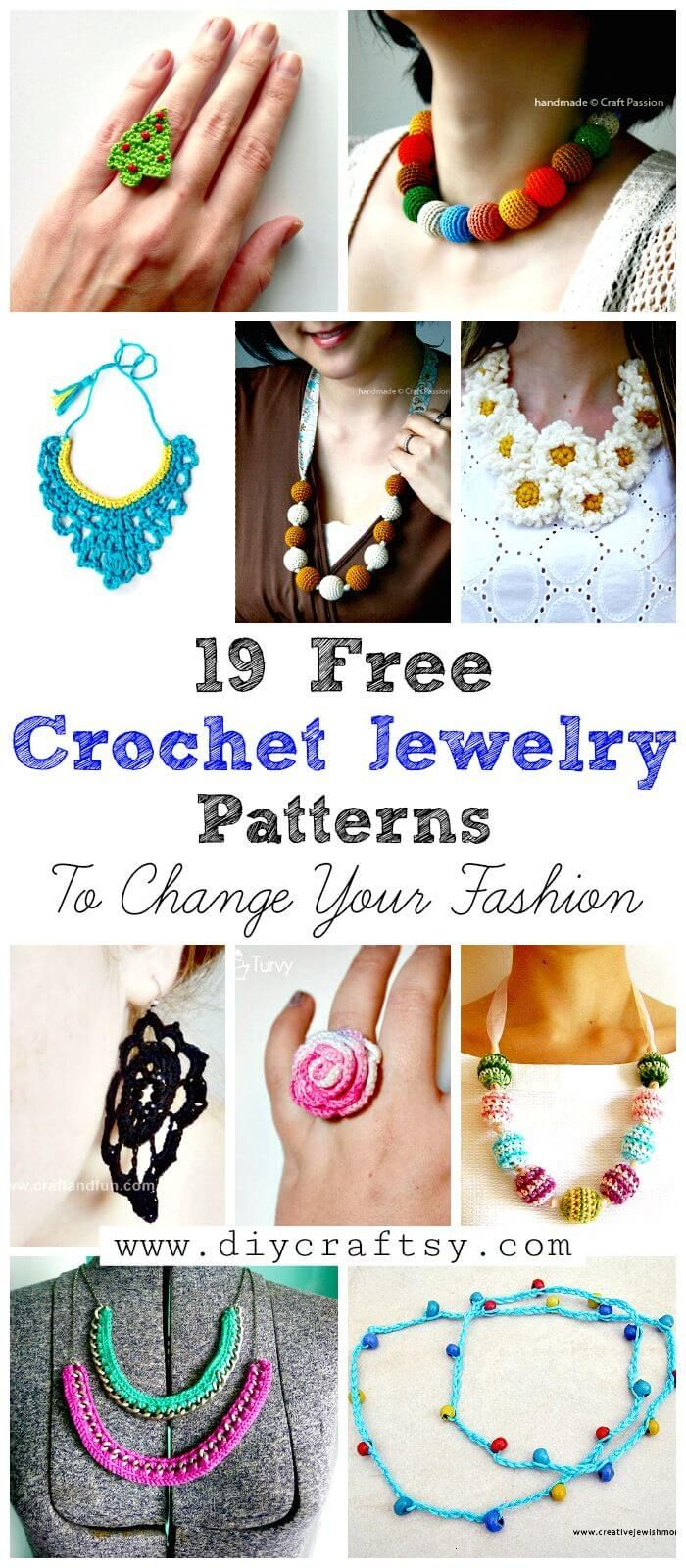 19 Free Crochet Jewelry Patterns To Change Your Fashion | Crochet 8 ...