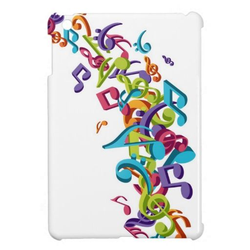 cool colourful music notes  sounds art image cover for the iPad mini
