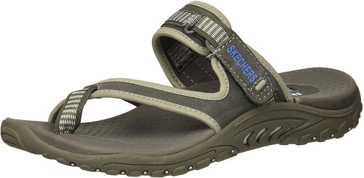 | Skechers Women's Reggaes Rasta Sandal, Gray, 8