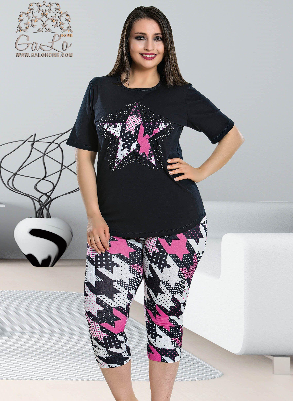 586fcea150b9 Комплект с Капри (2XL+3XL+4XL) Lady в 2019 г. | Одежда 602 | Капри ...