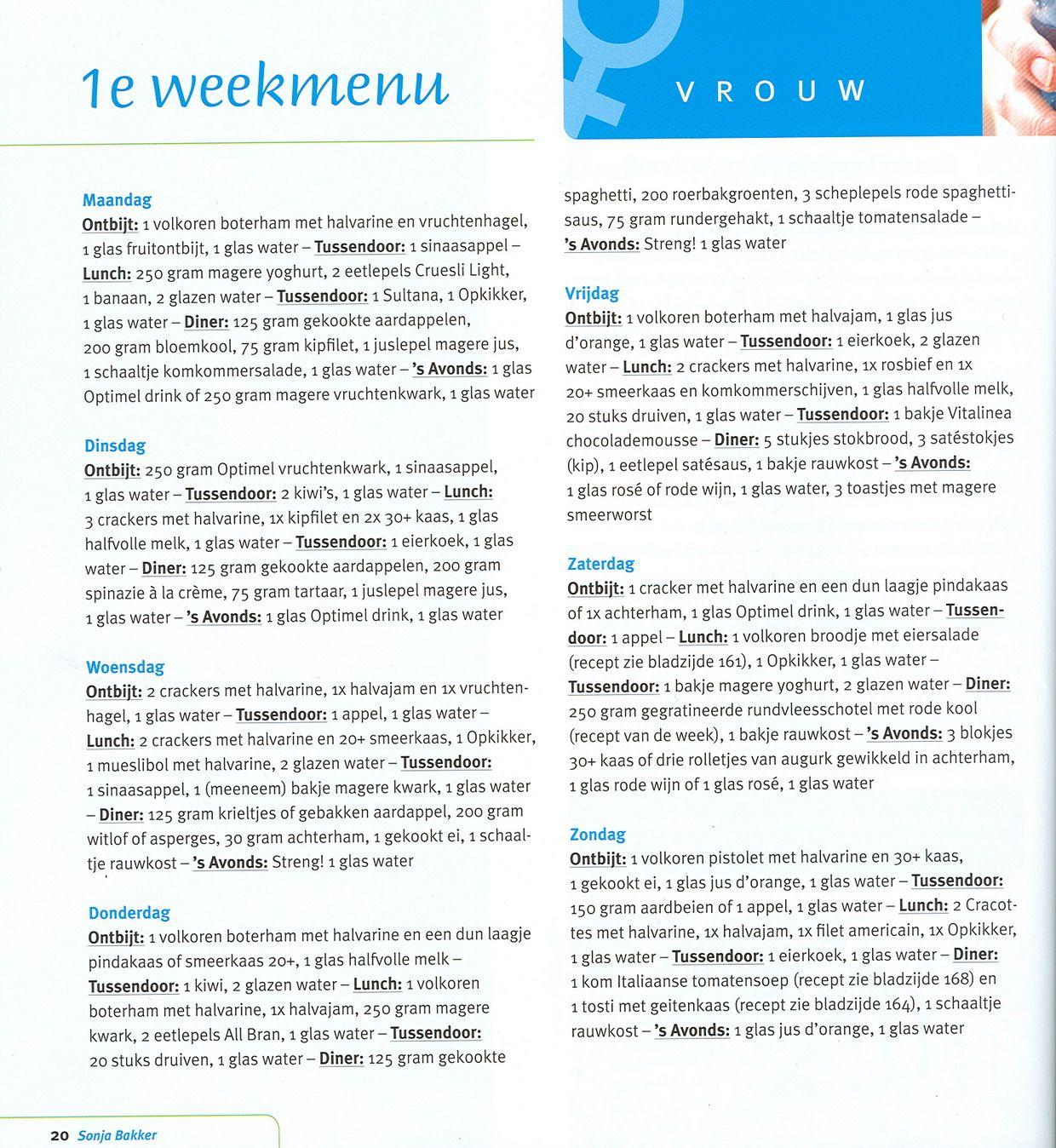 Vaak Sonja Bakker Recepten Week 1 SI23 | Belbin.Info @IM76