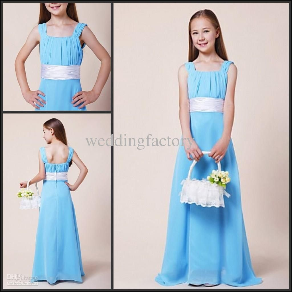 Light blue junior bridesmaid dresses dresses and gowns ideas