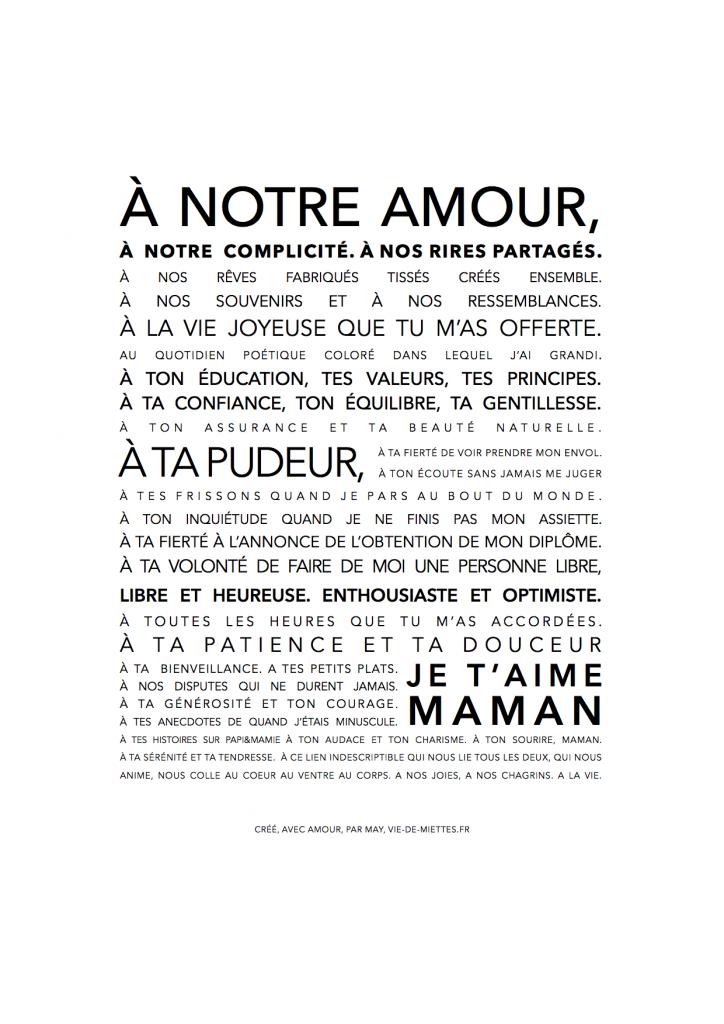 Affiche Texte Garçon Pour Sa Maman Citation Quotes Quote
