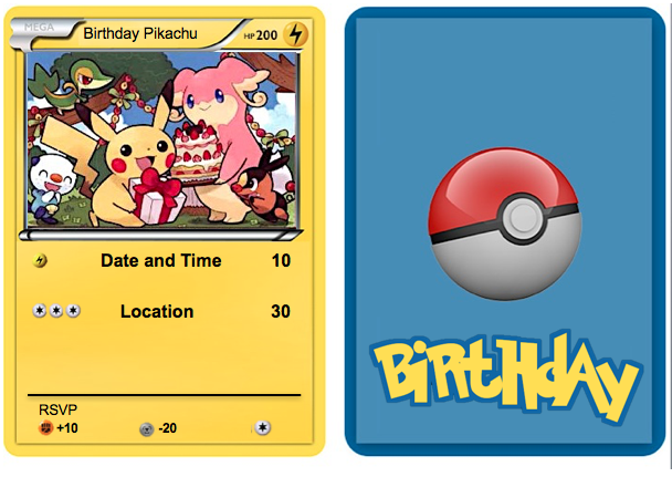 Pokemon Birthday Just Copy And Past Image Onto Powerpoint To Complete The Image On The Back Go To Pokemon Birthday Pokemon Birthday Card Pokemon Invitations