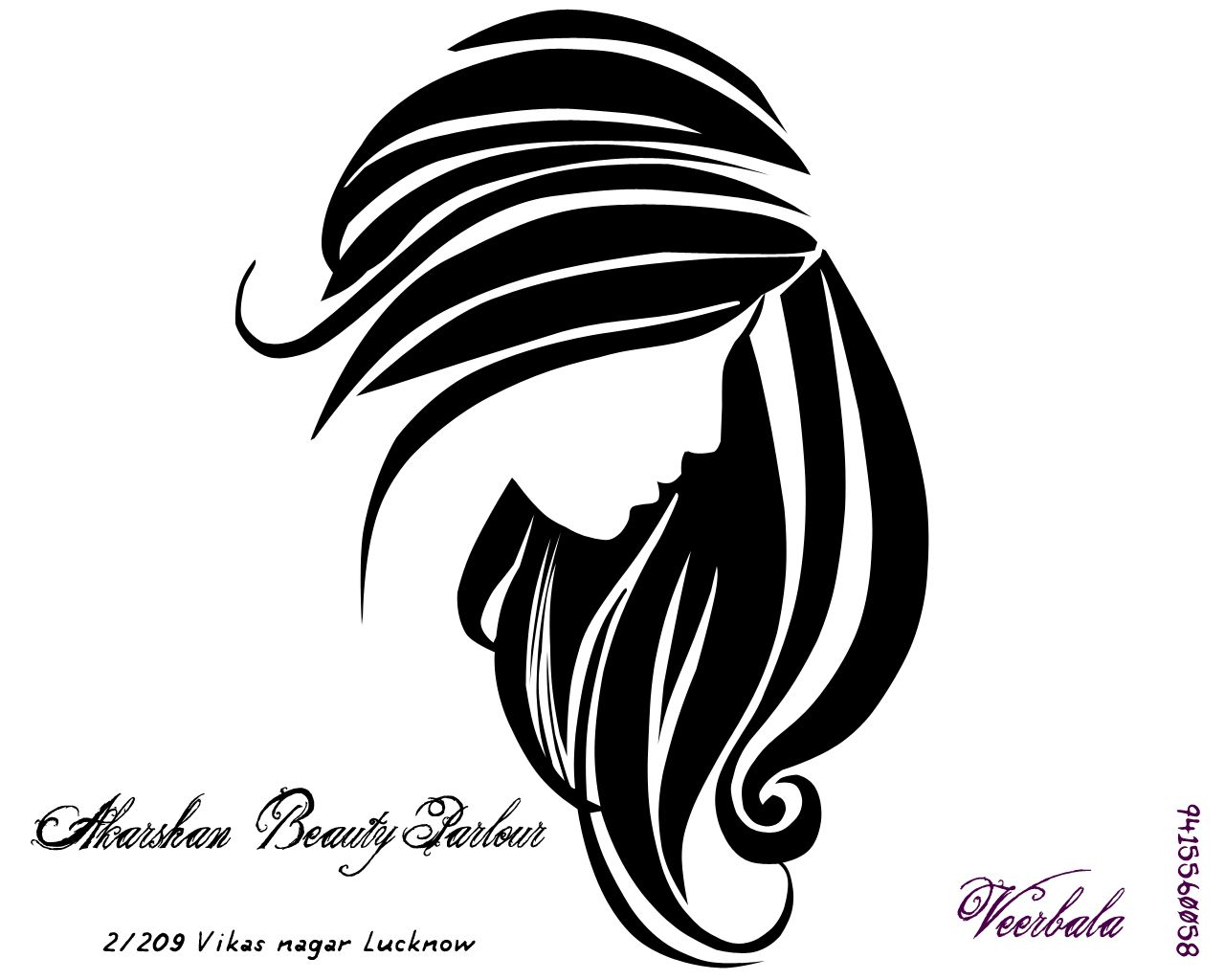 Akarshan Beauty Parlour Hair Salons Pinterest Parlour - Girl hairstyle vector free download