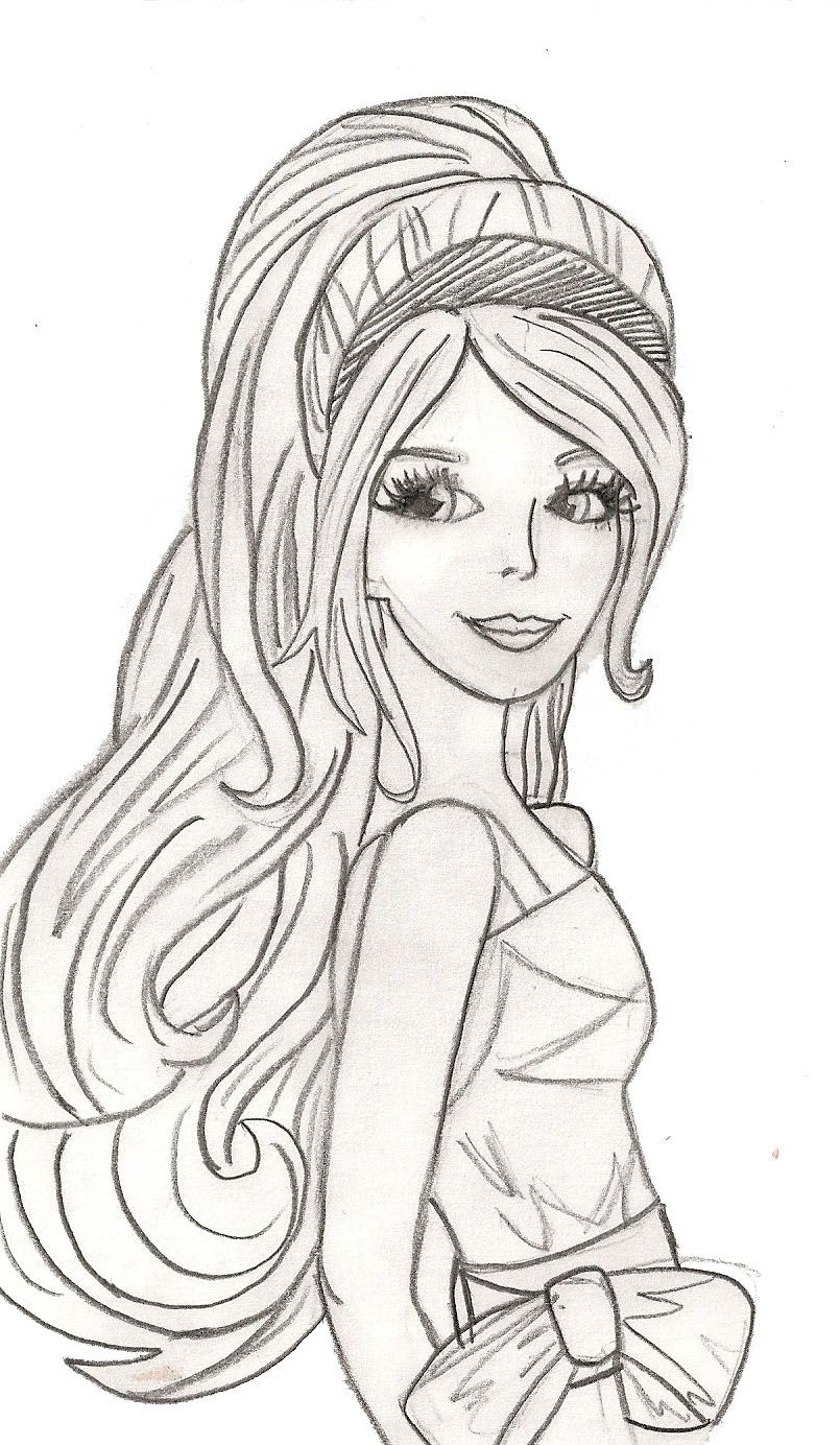 Beautiful Woman Coloring Pages