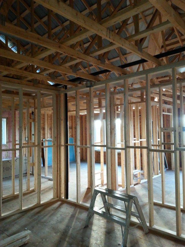 Plumbing In An Owner Builder Raised Bungalow Home Construction New Home Construction Plumbing