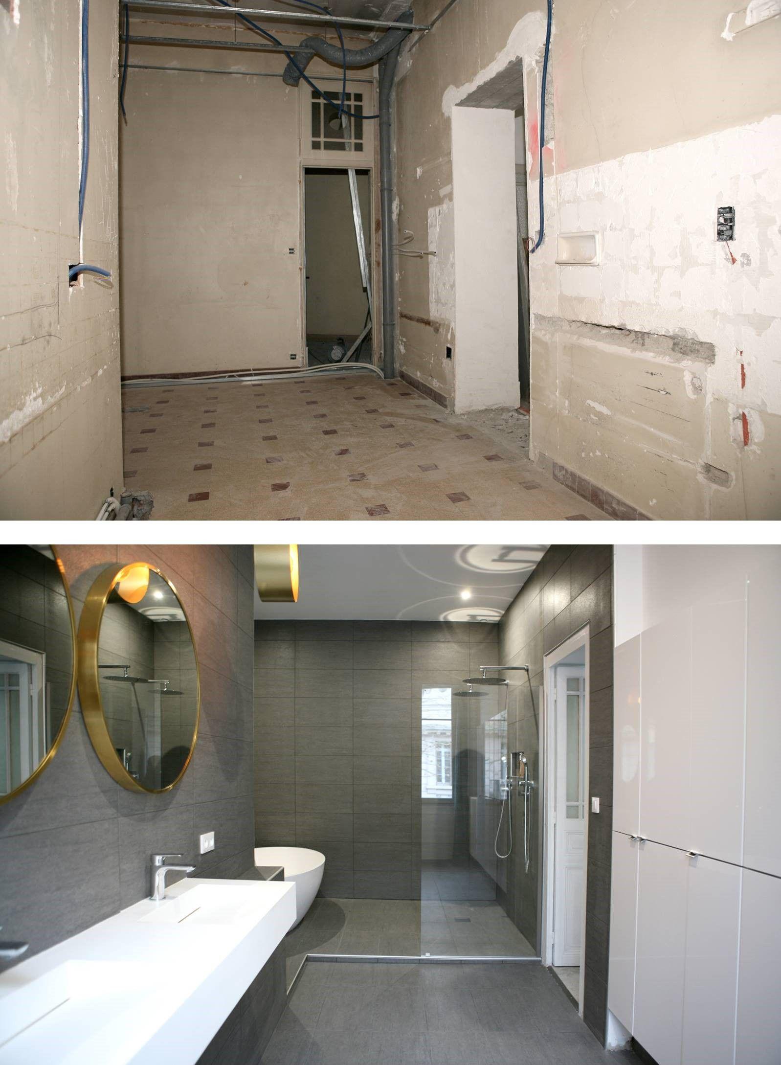 Plan Salle De Bain Wc Separe ~ Avant Apr S Douche L Italienne Sarodis Magnifique R Novation D
