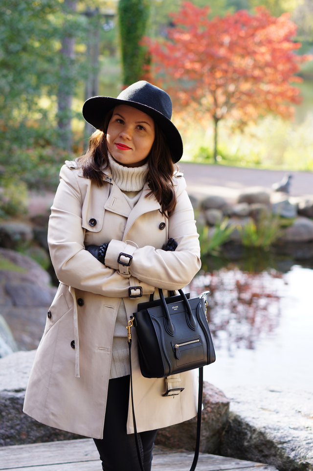 Trench Coat & Fedora Hat