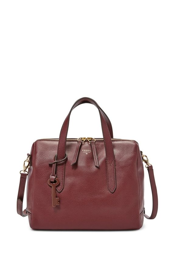 5989c53b2 Fossil Sydney Satchel in Maroon | Fall | Fashion, Fossil satchel ...