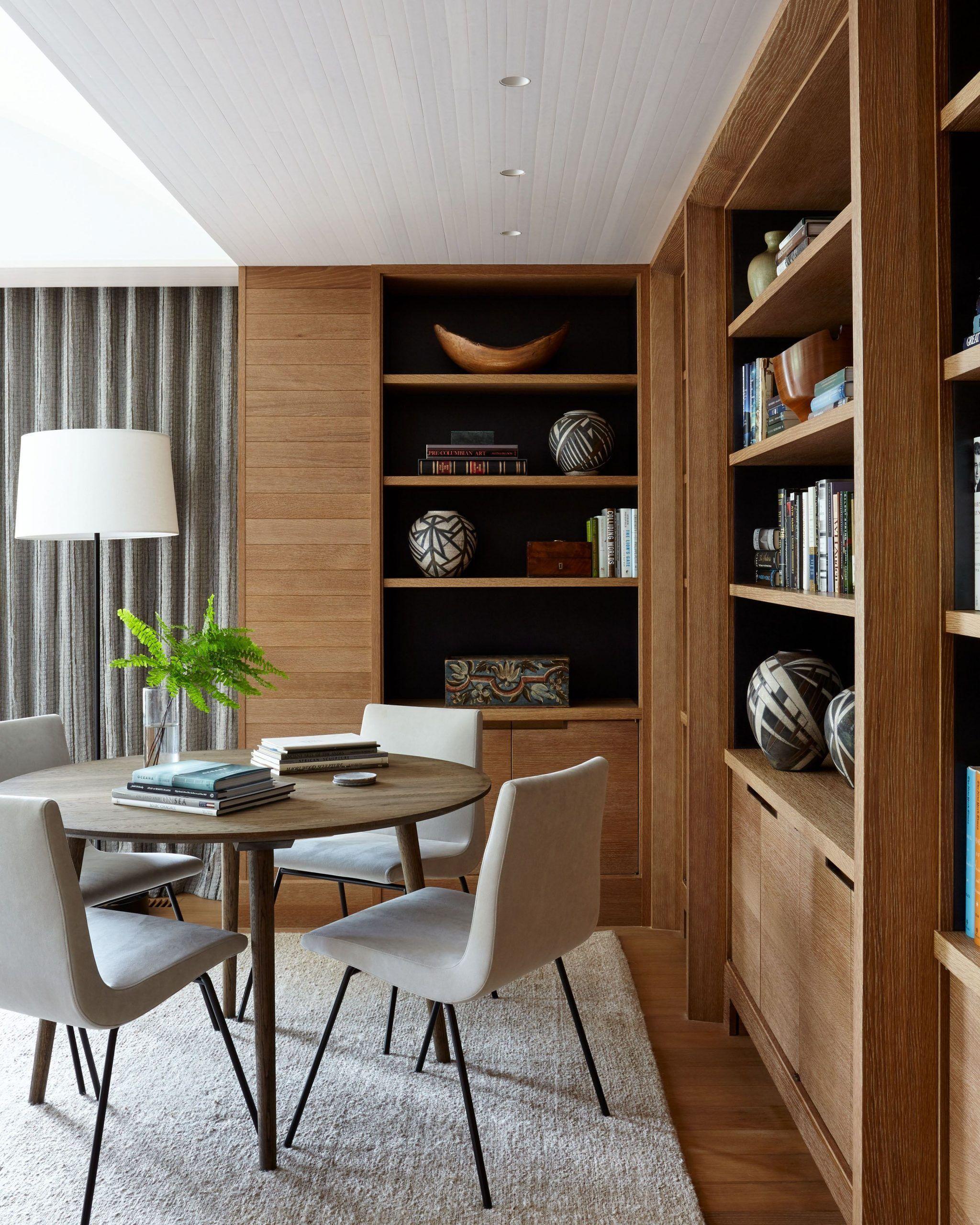 Wood Paneled Library: Minimalist Contemporary Scandinavian Style Custom Wood