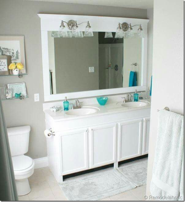 Framing out the bathroom mirror   For the Home   Pinterest   Cuarto ...