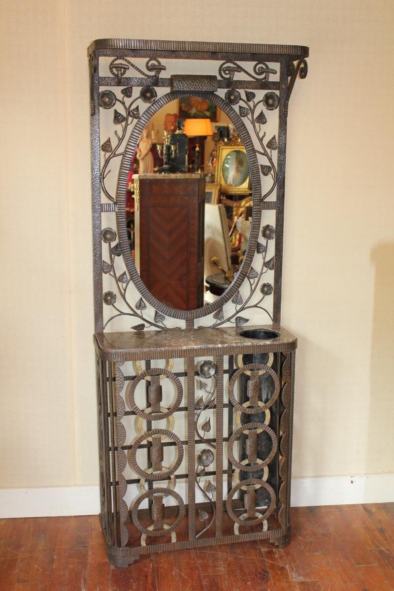 Porte Manteau Art Deco Fer Forgé - Autres Meubles
