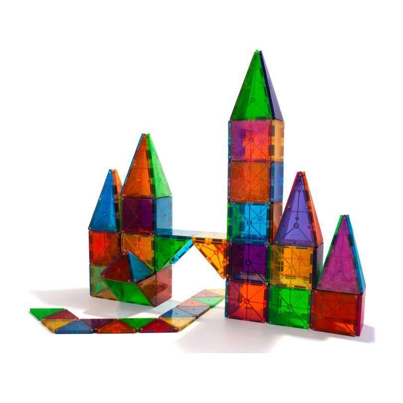 Magna Tiles Clear Colors 100 Piece Set Stem Toys Maisonette In 2020 Magnetic Tiles Magna Tiles Magnetic Building Tiles