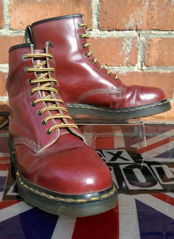 a297b1eafff Vintage 1970s Dr Martens 1460 Boots UK 8 Martins Skinhead Oi! Made ...