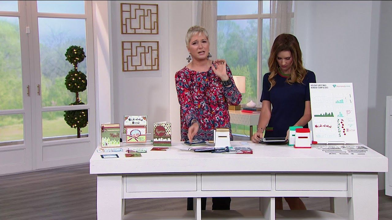 Diamond press holiday greeting stamp and die kit youtube