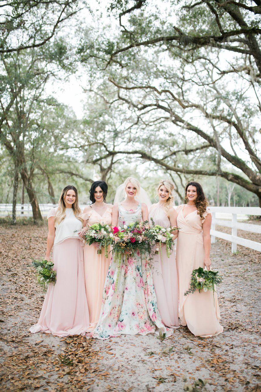 Colorful Summer Floral Citrus Wedding Ideas Every Last Detail Summer Bridesmaid Dresses Summer Bridesmaids Pink Chiffon Bridesmaid Dress [ 1350 x 900 Pixel ]