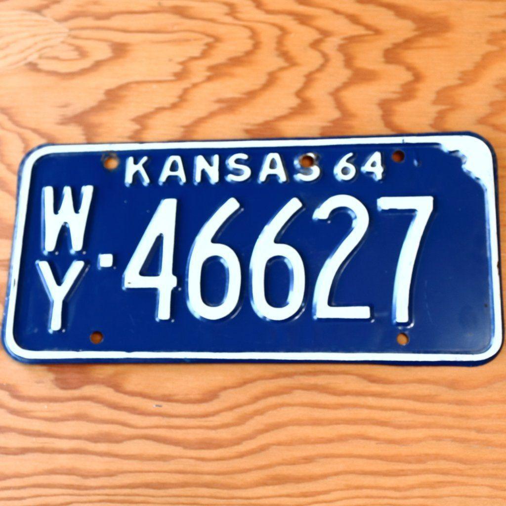 1964 Kansas Wyandotte County License Plate 46627