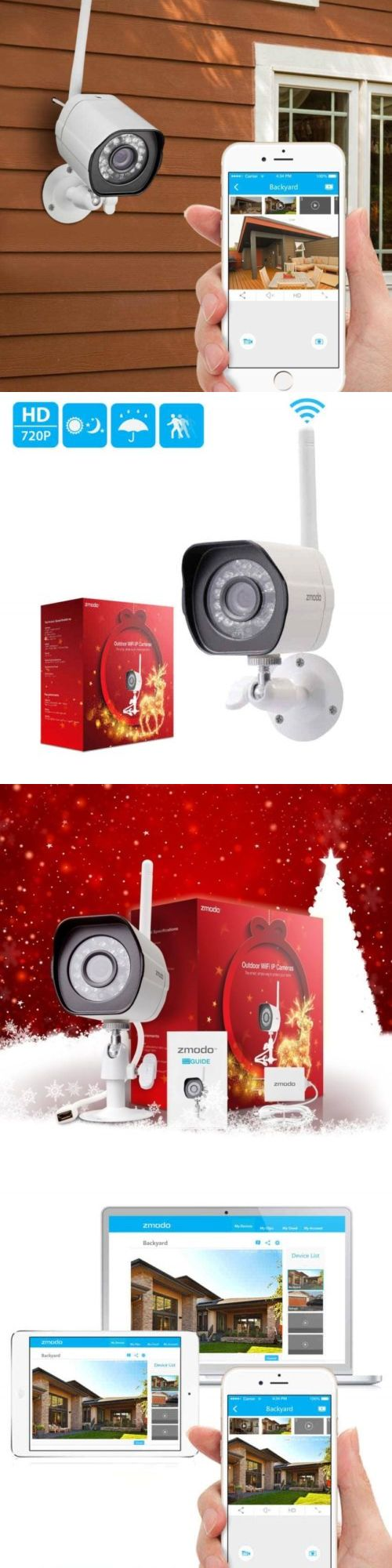 security cameras zmodo 720p hd outdoor home wireless security