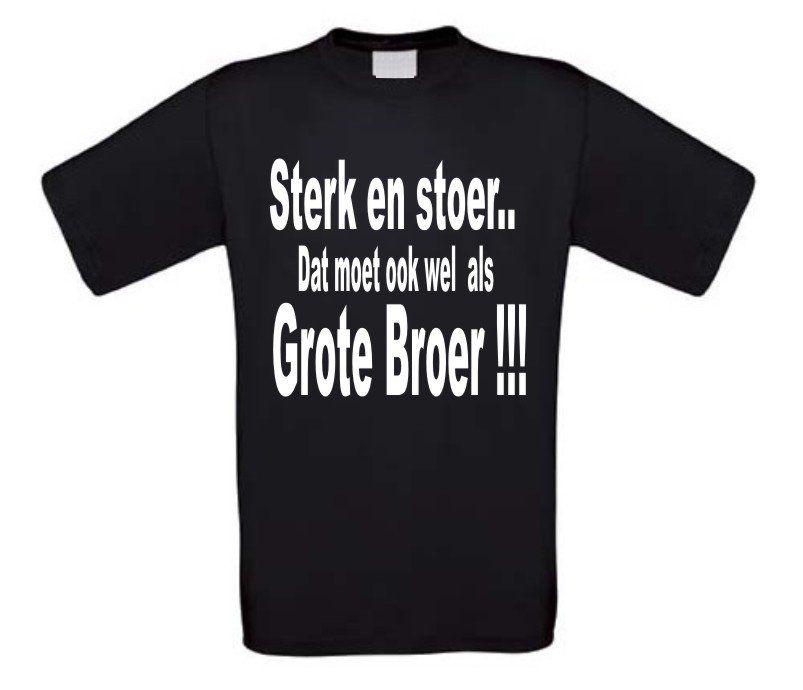 Gezinsuitbreiding t-shirt sterk en stoer dat moet ...