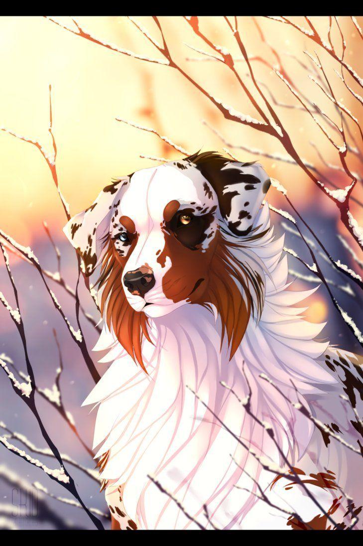 Картинки с анимешными собаками