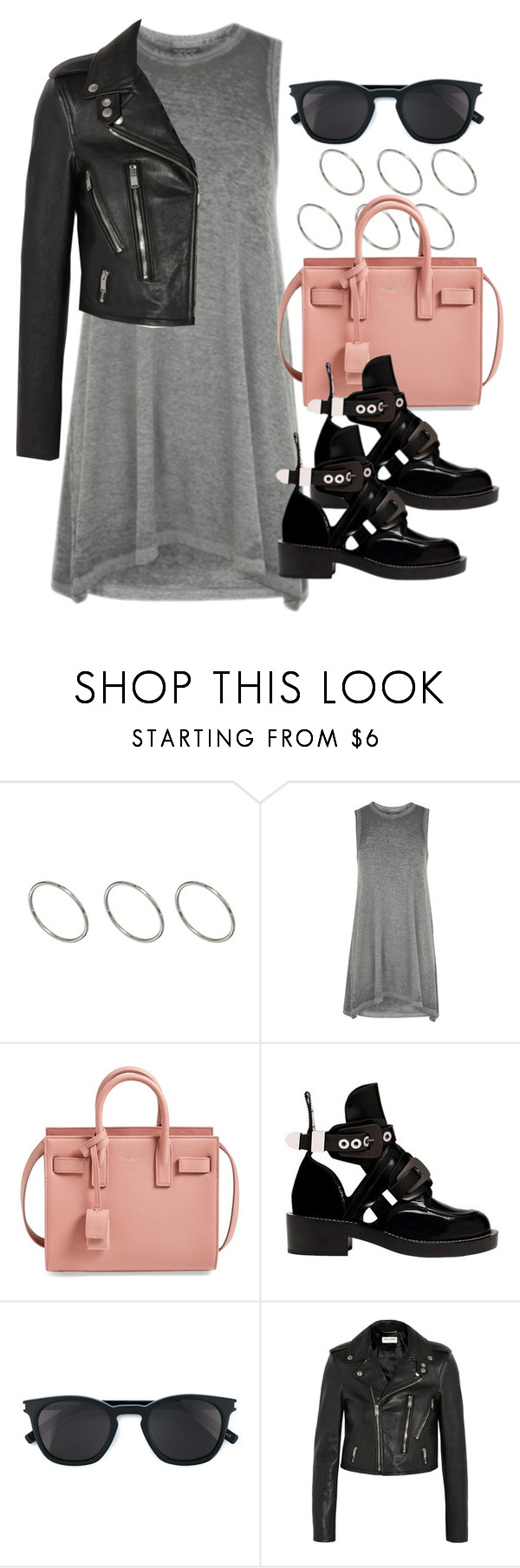 """Sin título #12222"" by vany-alvarado ❤ liked on Polyvore featuring ASOS, Topshop, Yves Saint Laurent and Balenciaga"