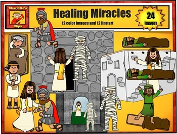 Healing Miracles of Jesus Clip Art set 2: Bible Series by ...