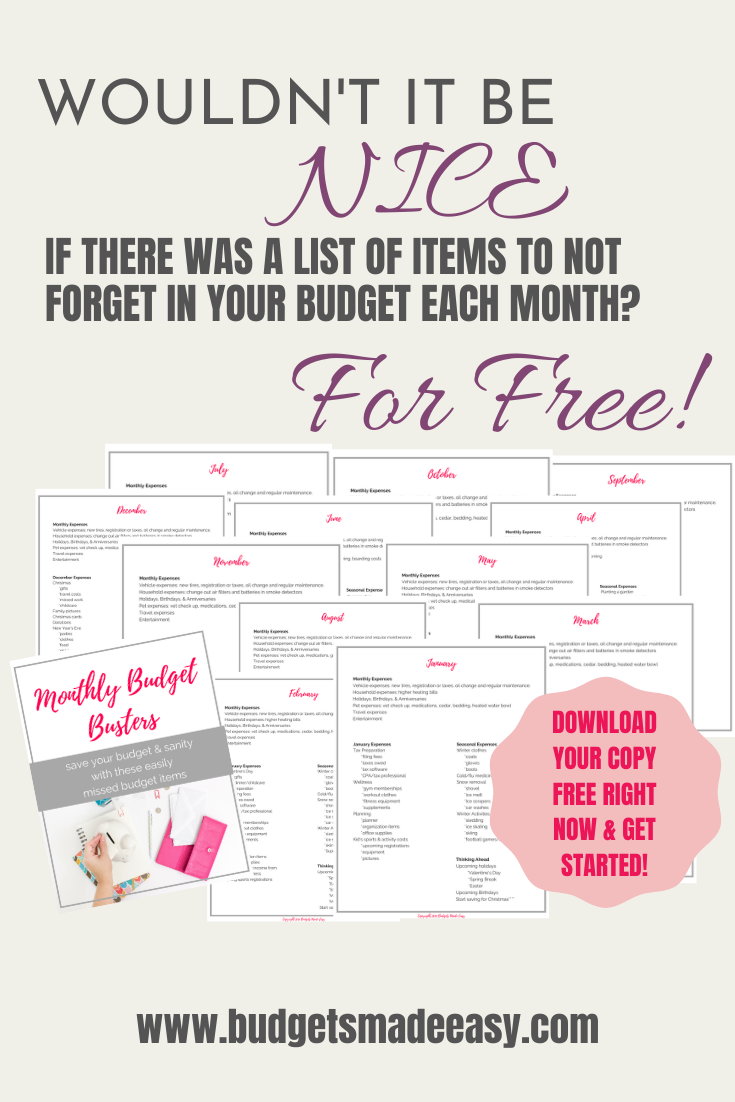 Budget Buster List | Budgeting, Budgeting worksheets ...