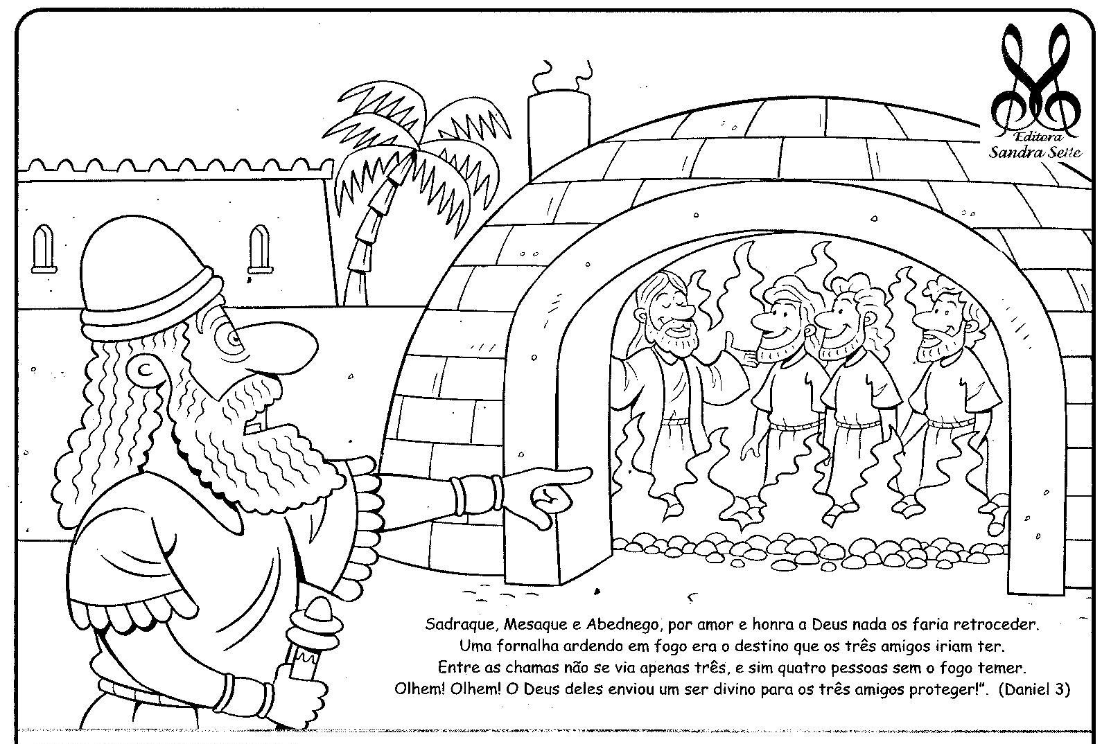 Fiery Furnace Bible Coloring Pages Preschool | www ...