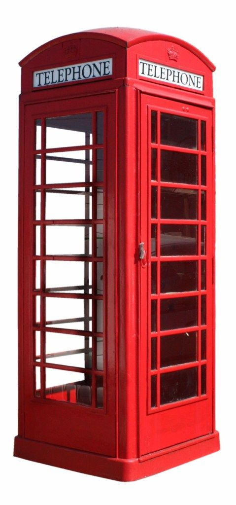 London Phone Booth 3d Modelle Rot