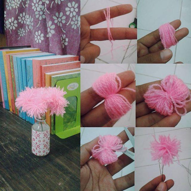 Lihat2 Tutorial Diy Id Jadilah Bunga Dari Benang Wol Buatan