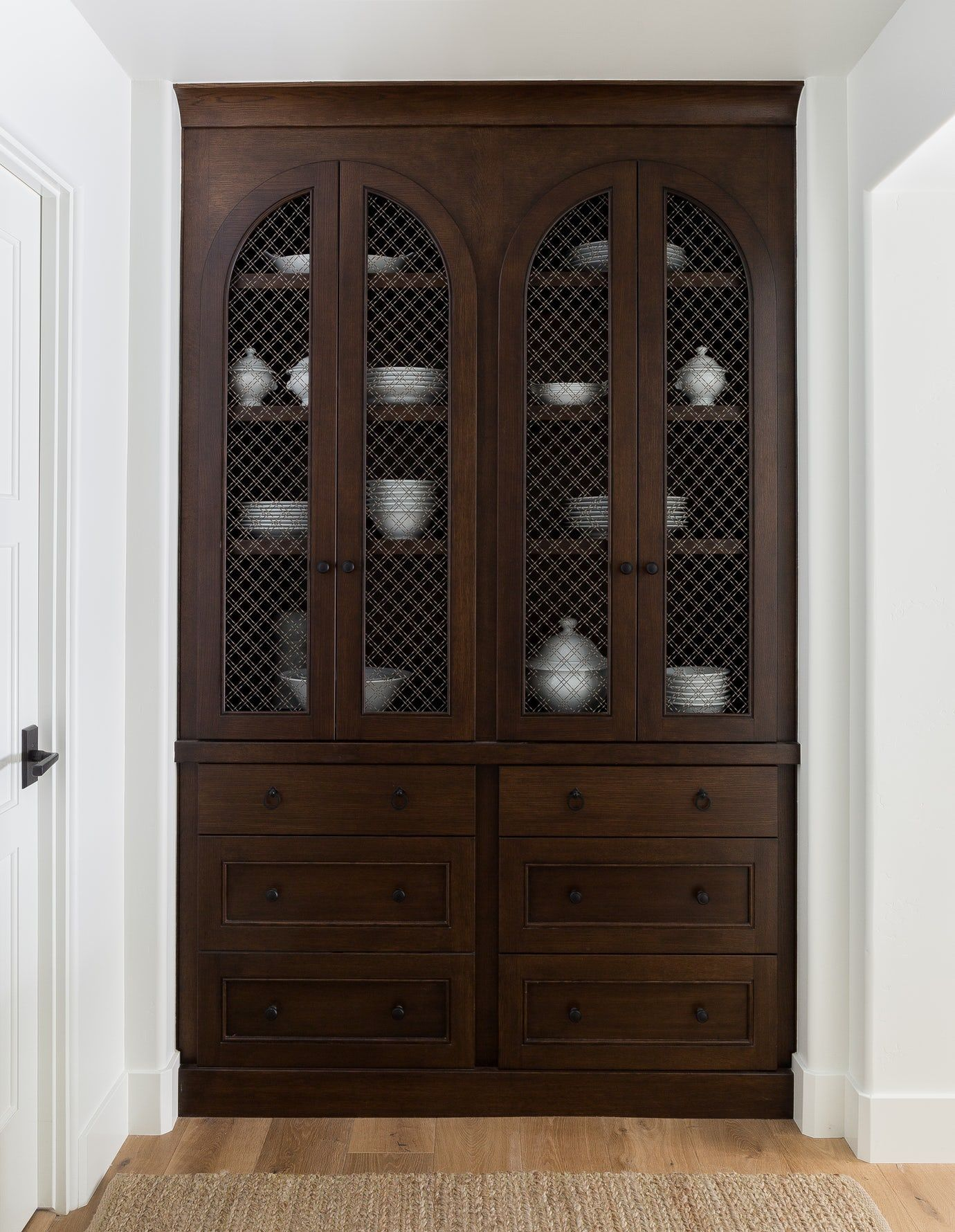 California, Custom Cabinet Hallway Butlers Pantry Closet Traditionalneoclassical Mediterranean Transitional