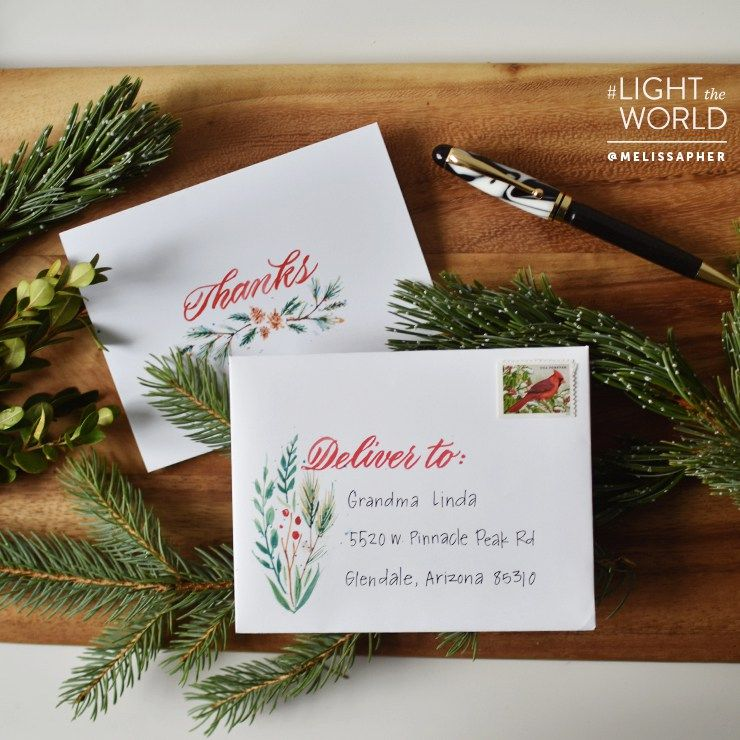 #LightTheWorld with Gratitude Cards – Free Printable FHE Idea & Art Print from Melissa Esplin
