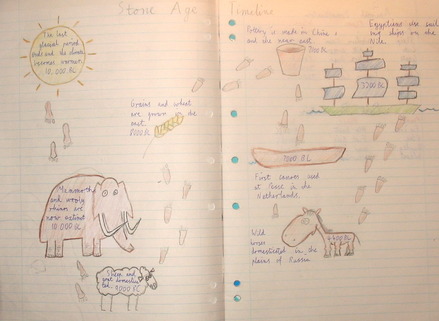 Stone Age Timeline By Dhruv 7x