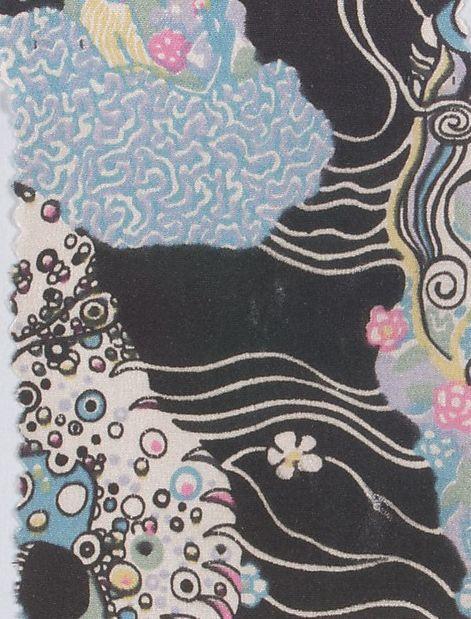 Textile design by Gustav Klimt for Wiener Werkstätte, ca.1920