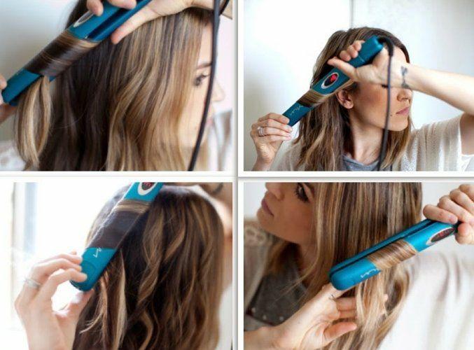 comment friser ses cheveux, lisseur bleu, collier et bague en argent