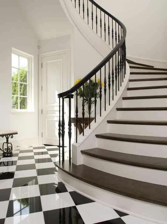 Best Closed Stringer Curved Staircase Google Search Stairs 400 x 300