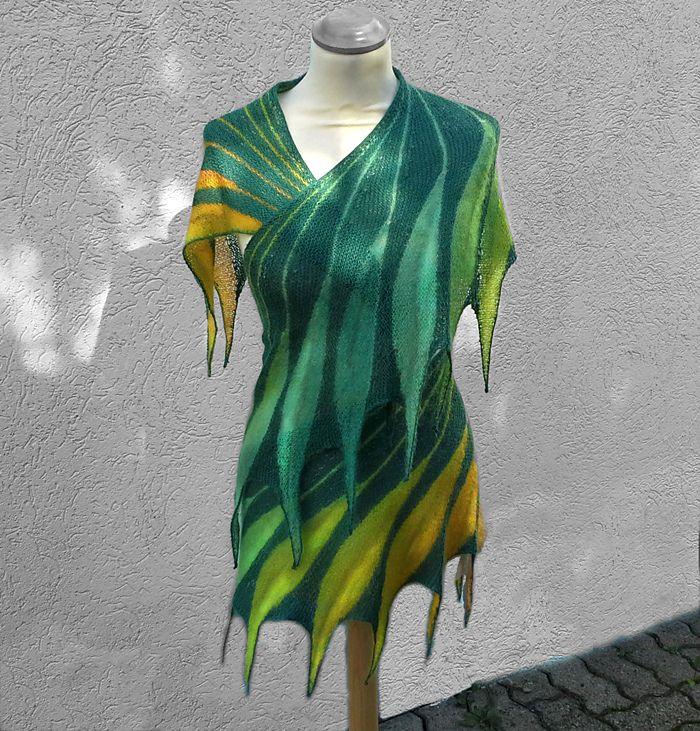 Dreambird KAL pattern by Nadita Swings | Tejido, Guantes y Chal