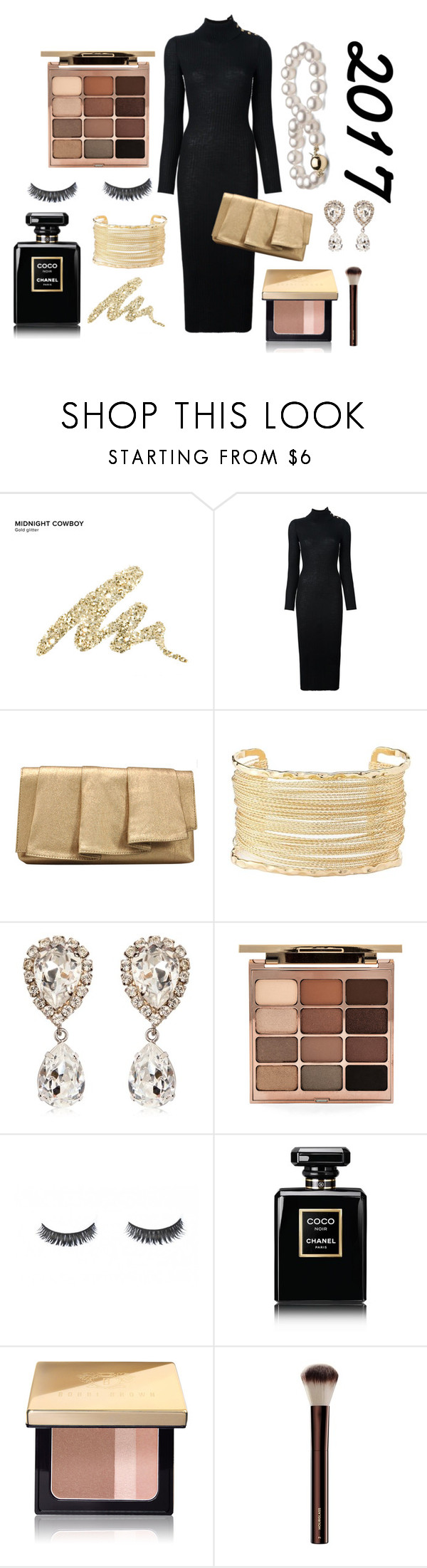 """New Year #2"" by so-fantastic ❤ liked on Polyvore featuring Urban Decay, Balmain, La Regale, Charlotte Russe, Dolce&Gabbana, Stila, Chanel and Bobbi Brown Cosmetics"