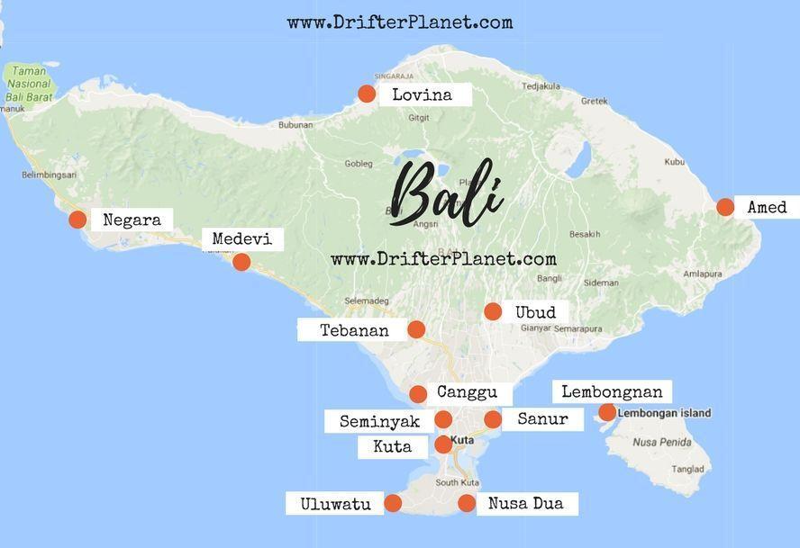 Balidestination Where Bali Stay Bali Map To Inbali Map