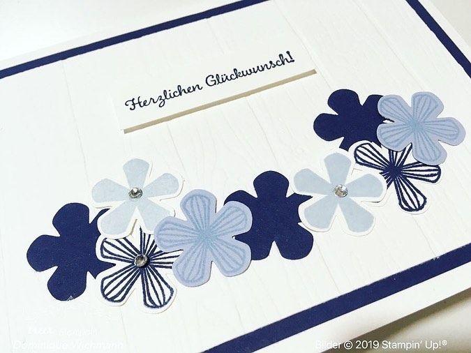 """Dominique Wichmann on Instagram: """"️ Eine blumige Glückwunschkarte mit den Produkten von Stampin' Up! (Werbung) ⠀⠀⠀⠀⠀⠀⠀⠀⠀⠀⠀ Blumen passen doch einfach zu jedem Anlass. �…"""""""