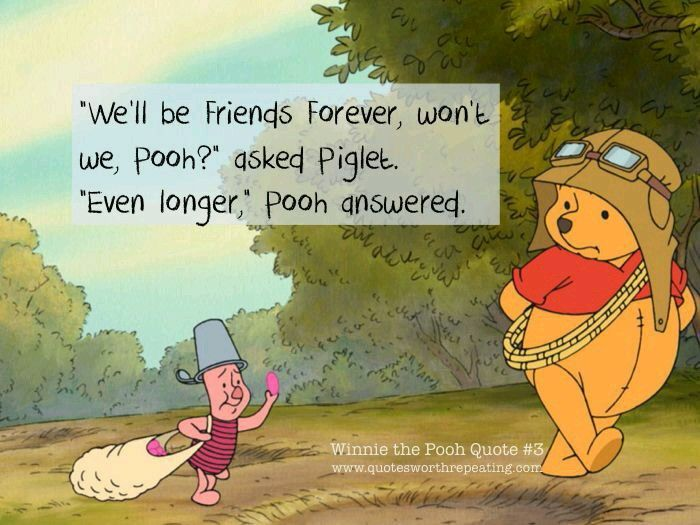 The Best Friendship: Knowing That Your Friendship Is Boundless. Piglet And  Pooh
