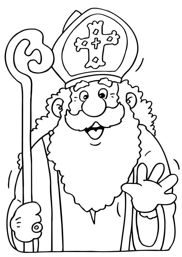 Bischof Nikolaus Ausmalbilder 02 Sinterklaas Kleurplaten Kerstman