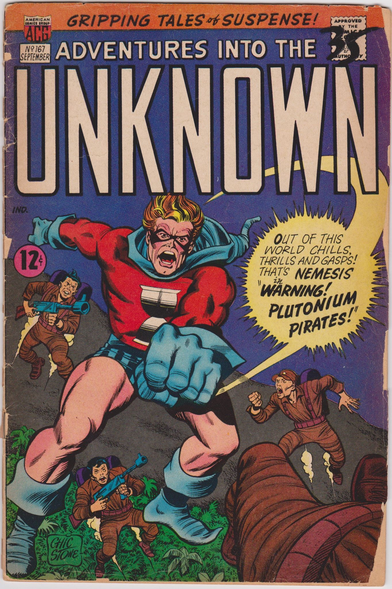 Adventures into the unknown 167 american comics group 18